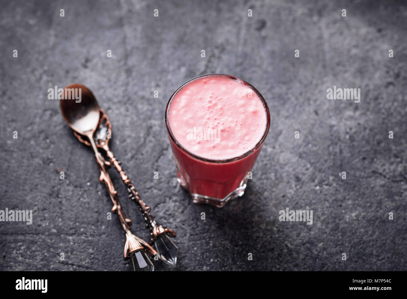Beetroot super latte. Detox drink - Stock Image