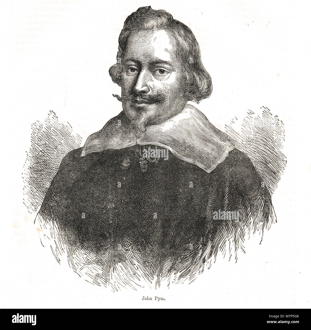 John Pym,  leader of the opposition to the king, in the Long Parliament - Stock Image