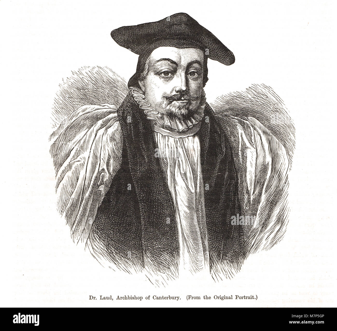 Archbishop William Laud, 1573-1645, Archbishop of Canterbury from 1633, Eleven Years' Tyranny, during the personal - Stock Image