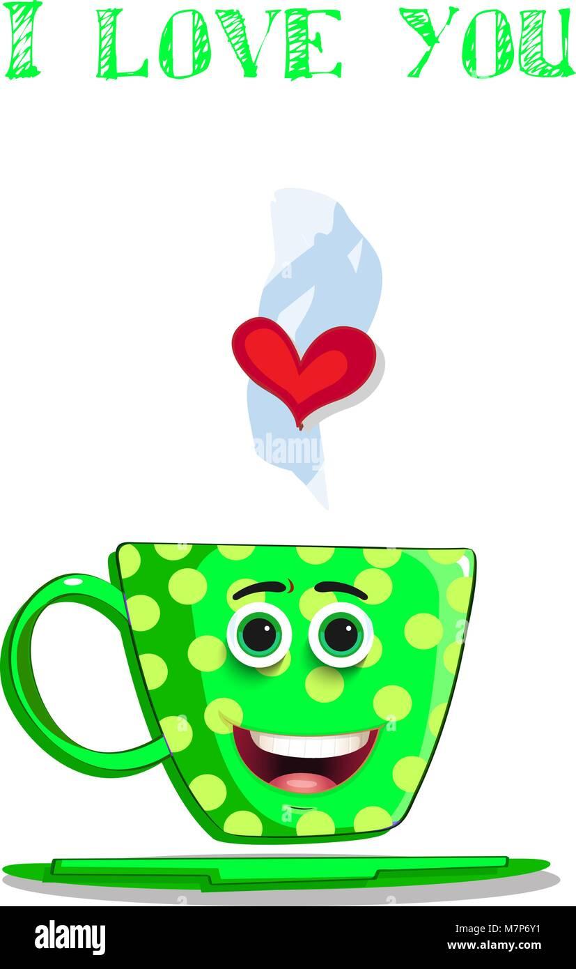 Love Greeting Character I Cute Green With Card Coffee You Mug qVSMzpjLUG