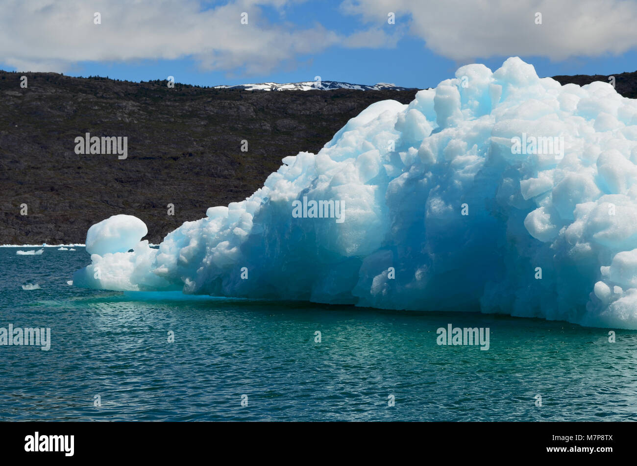 Steffen glacier in Campo de Hielo Sur (Southern Patagonian Ice Field), Chilean Patagonia - Stock Image