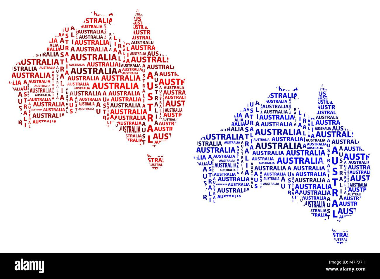 Sketch Australia Letter Text Continent Australia Word In The