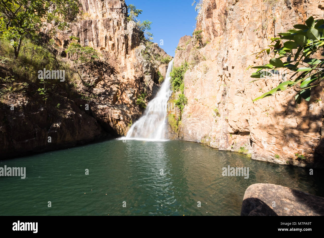 Beautiful Cachoeira dos Macaquinhos in Chapada dos Veadeiros, Goias, Brazil - Stock Image