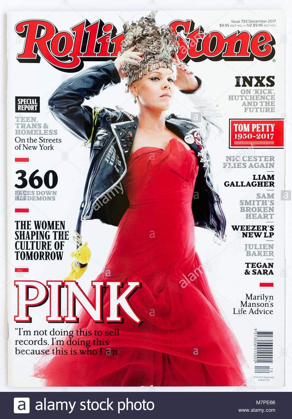 The cover of Rolling Stone magazine, issue 793, Pink - Stock Image