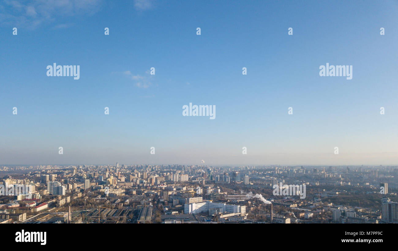 View from a birdseye on the city of Kiev,Dorogozhychi district - Stock Image