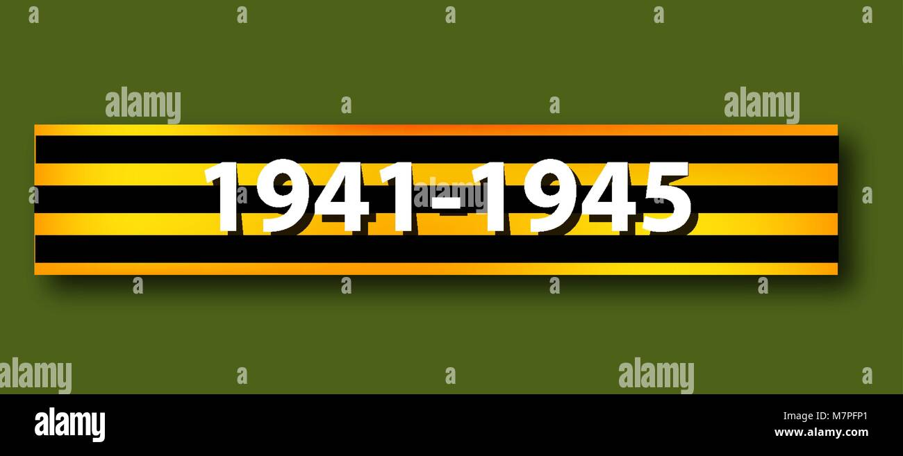 George ribbons. May 9 Victory Day. 1941 1945 year. The Great Patriotic War. Vector illustration on isolated background. - Stock Vector