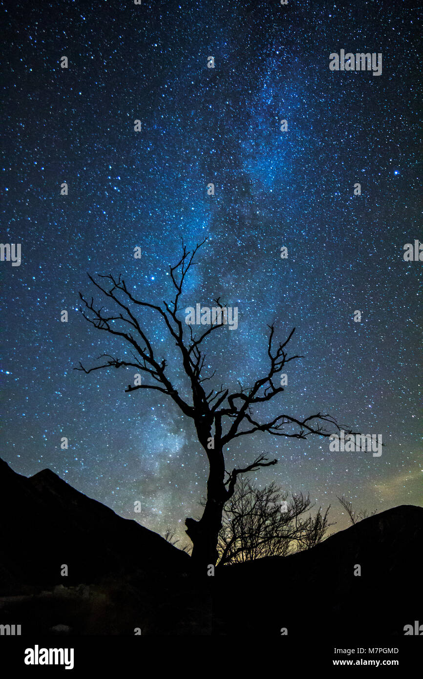 Night in Sibillini National Park, Marches, Italy - Stock Image