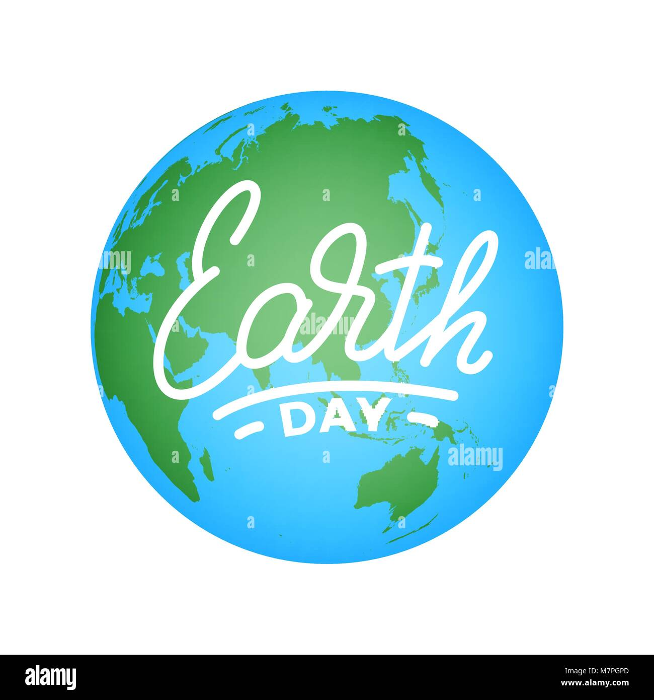 earth day illustration for earth day celebration with earth globe M7PGPD
