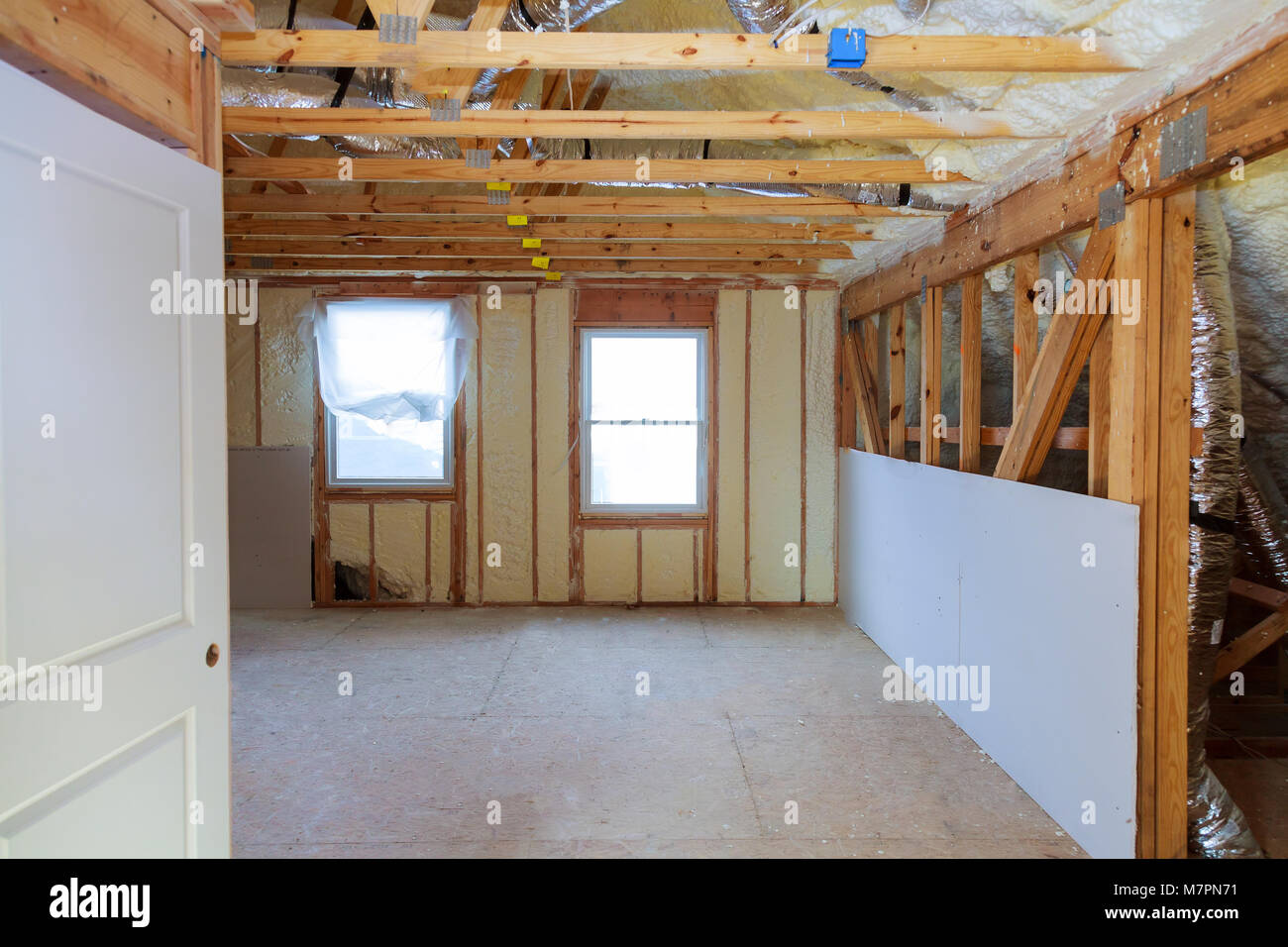 Thermal And Hidro Insulation Inside Wall Insulation Interior View Stock  Photo: 176905877   Alamy