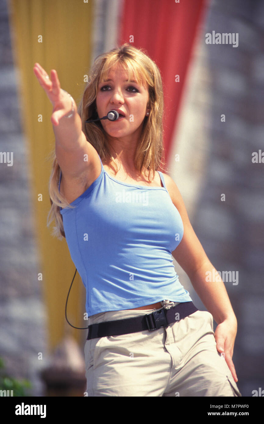Orlando Fl June 15 Pop Singer Britney Spears Performs Live At Walt Disney