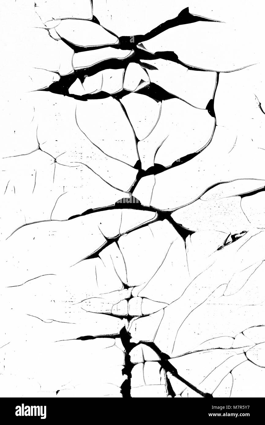 Cracked and peeled surface - grunge cracks texture - detail - Stock Image