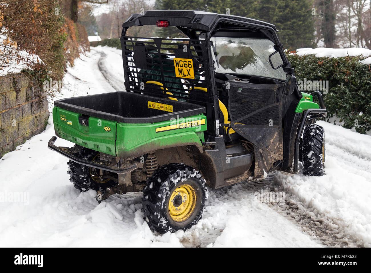 John Deere Gator, farmers vehicle. ,land management, agronomy, tilling,continuously variable transmission,agriculture,gator - Stock Image