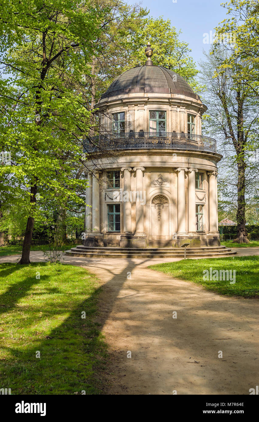 English Pavilion at Pillnitz Castle which has been part of the Summer  residence of Frederick Augustus I of Saxony. - Stock Image