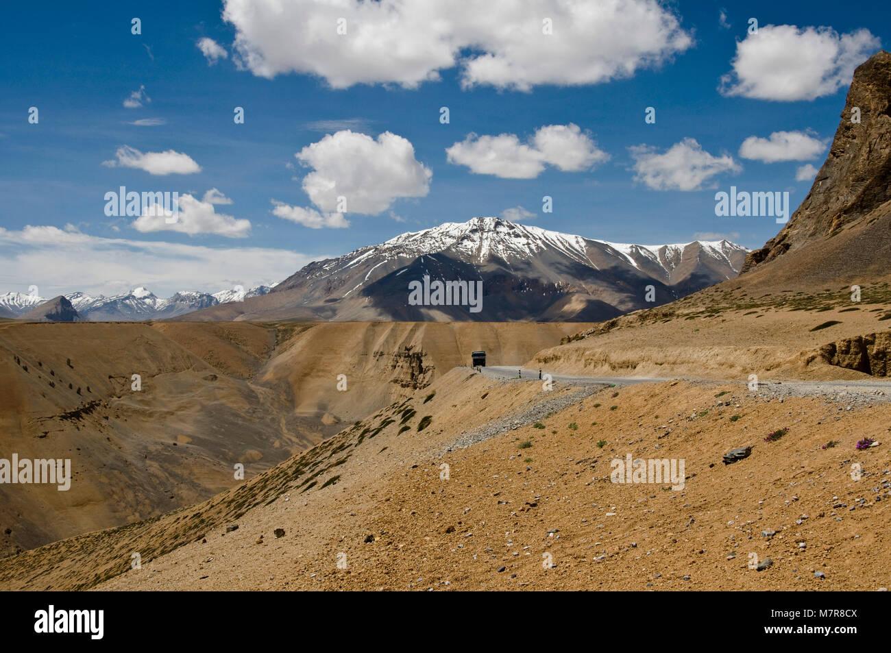 Leh-Manali Highway, Ladakh, India - Stock Image