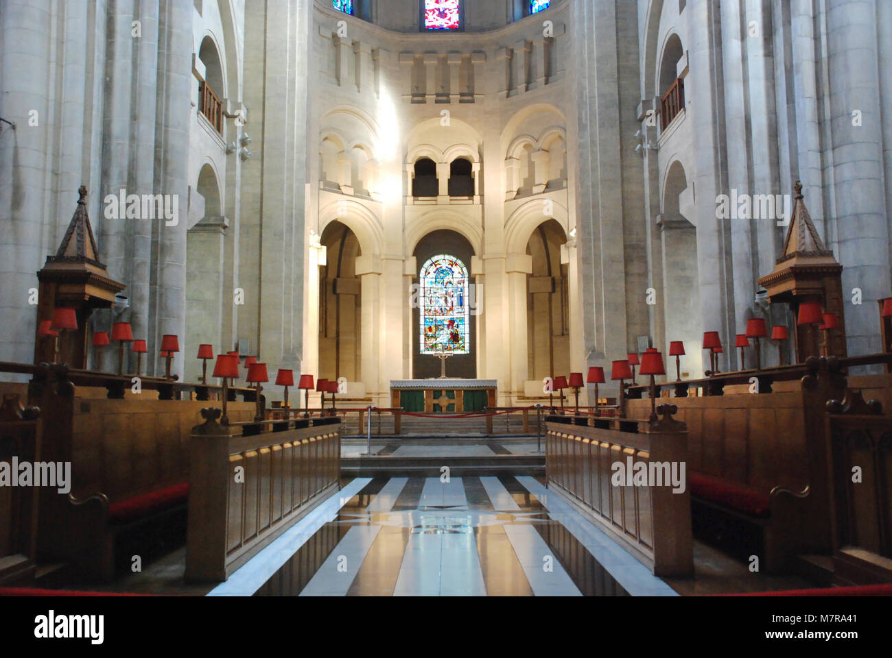 Interior of St. Anne's Cathedral, Belfast, Northern İreland, UK - Stock Image