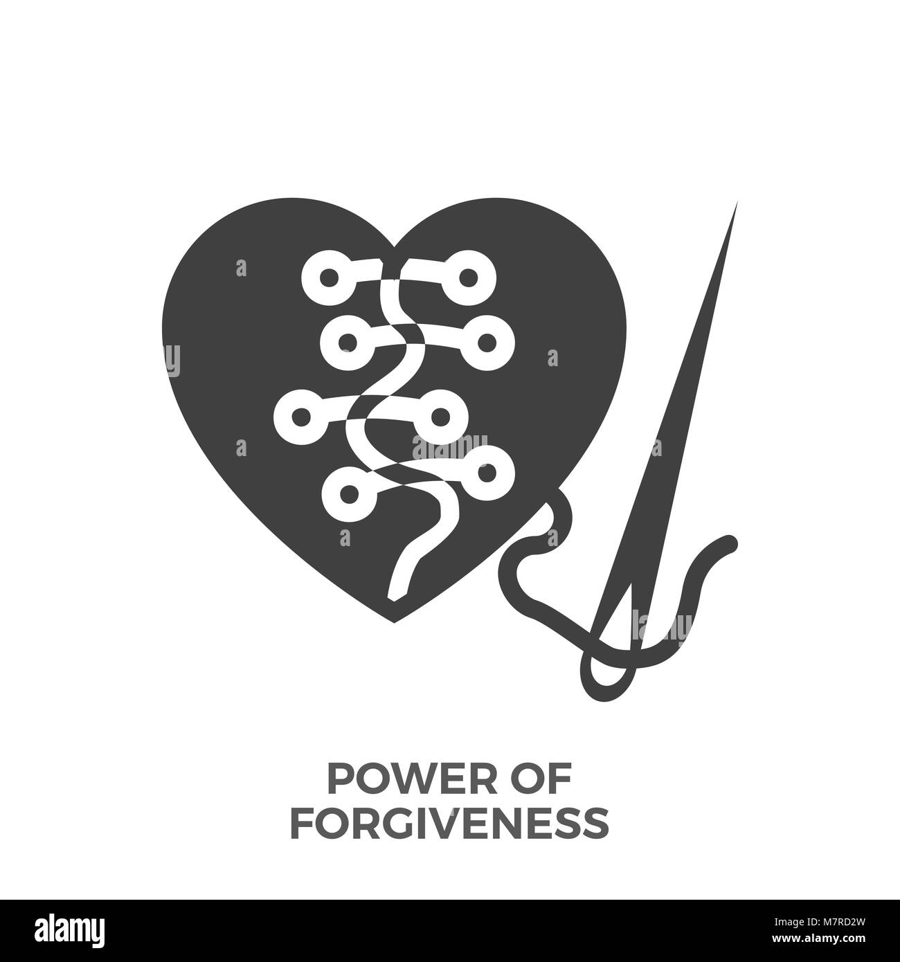 Power of Forgiveness Glyph Vector Icon. - Stock Image