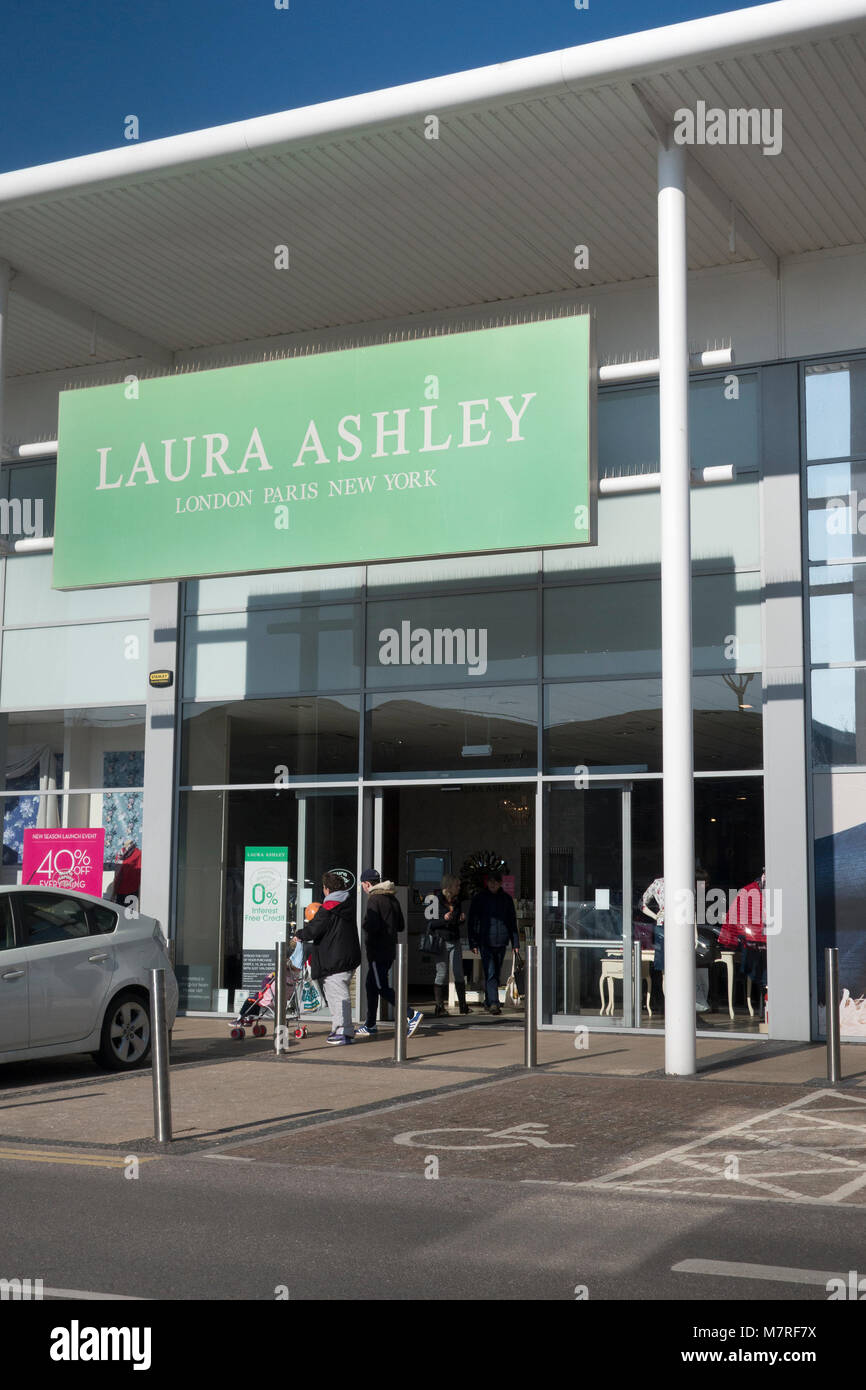 Laura Ashley, Solent Retail Park, Havant, Hampshire, UK - Stock Image