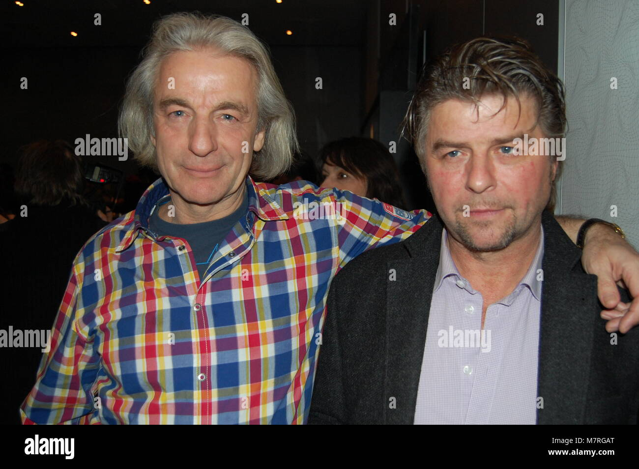 Anthony Arndt & Uwe Fellensiek - Los Banditos Party, 13.02.2011, Berlin - Stock Image