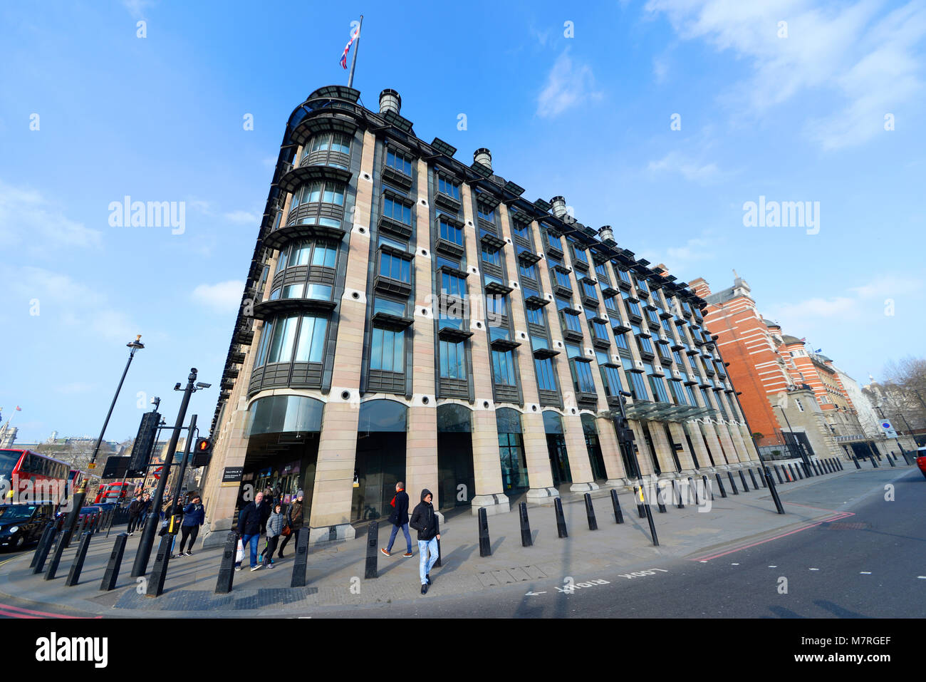 Portcullis House (PCH) office building in Westminster, London, UK, offices for 213 members of Parliament and staff. - Stock Image