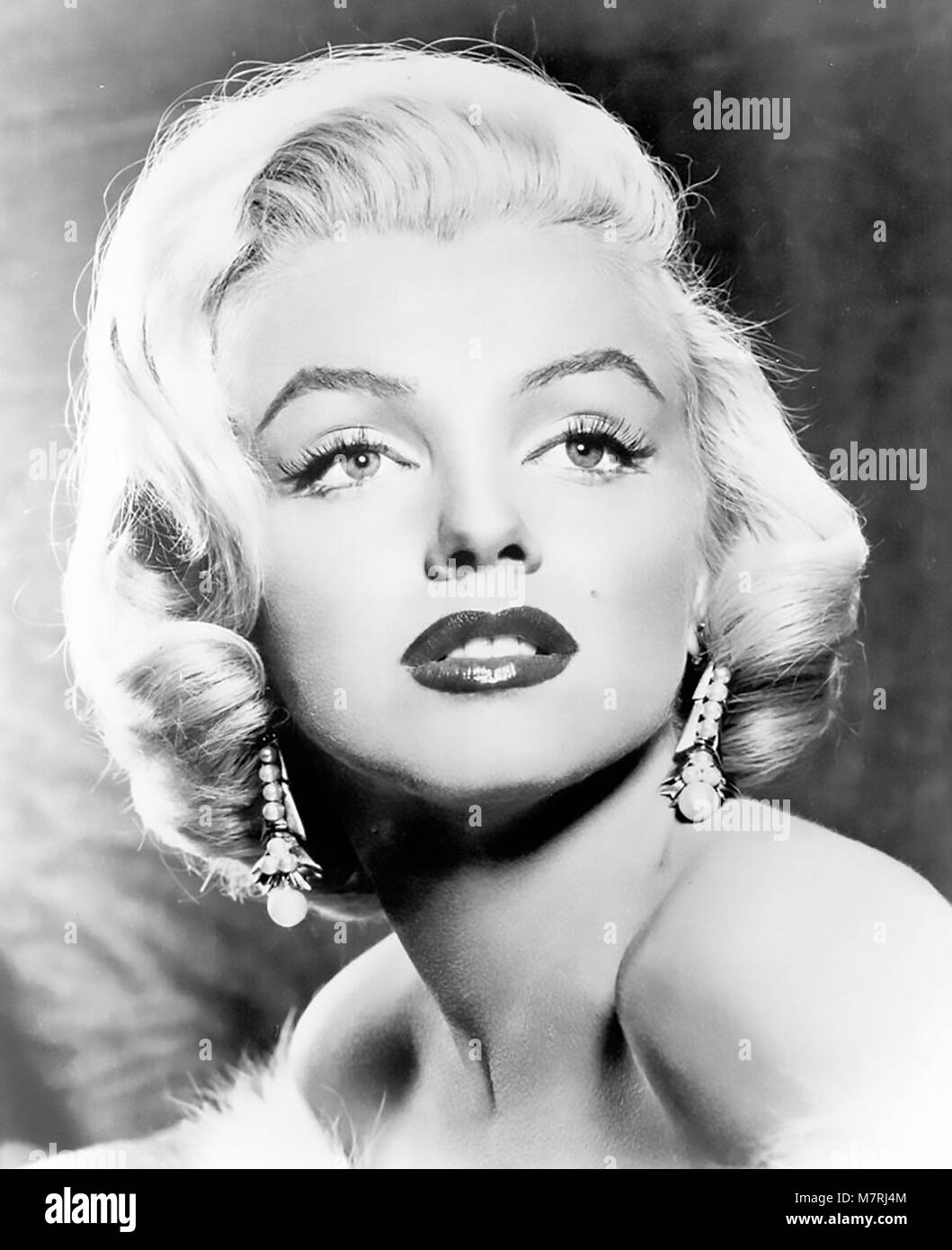 MARILYN MONROE (1926-1962) American film actress in 1953 while filming Gentlemen Prefer Blondes for 20th Century - Stock Image