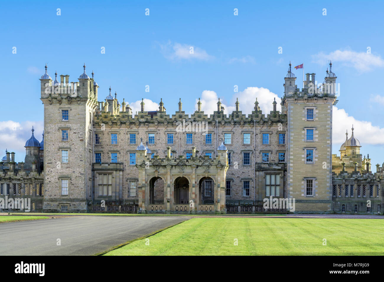 Floors Castle, Kelso, Scotland - Stock Image