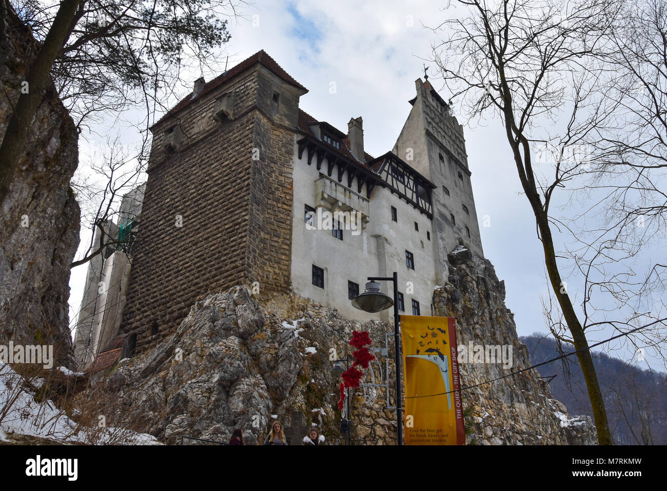 Bran, Romania. February 4, 2017. Bran Castle (Castelul Bran), commonly known as 'Dracula's Castle' - Stock Image