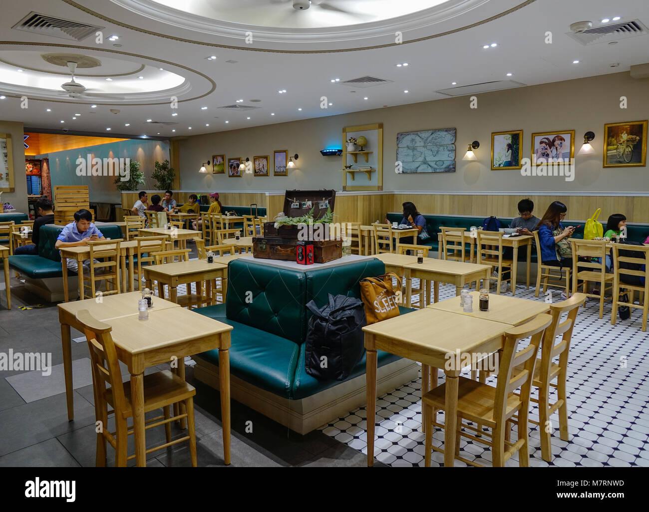 Airport food court stock photos