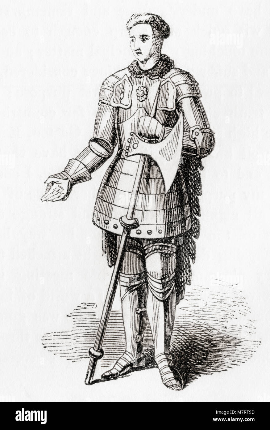 Thomas Montagu, 4th Earl of Salisbury, 6th and 3rd Baron Montagu, 5th Baron Monthermer, and Count of Perche, 1388 - Stock Image