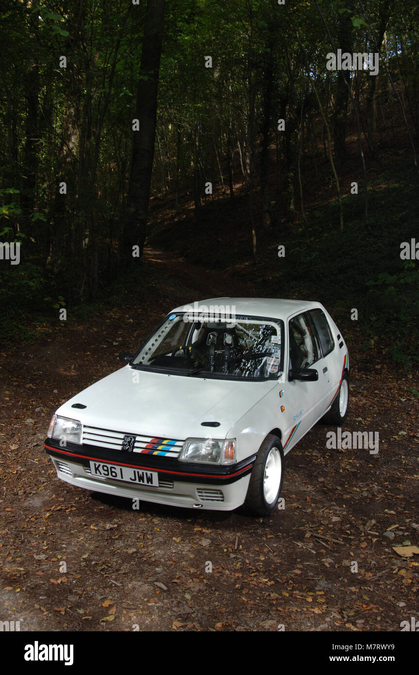 1992 Peugeot 205 Rallye French modern classic hot hatch sports car - Stock Image