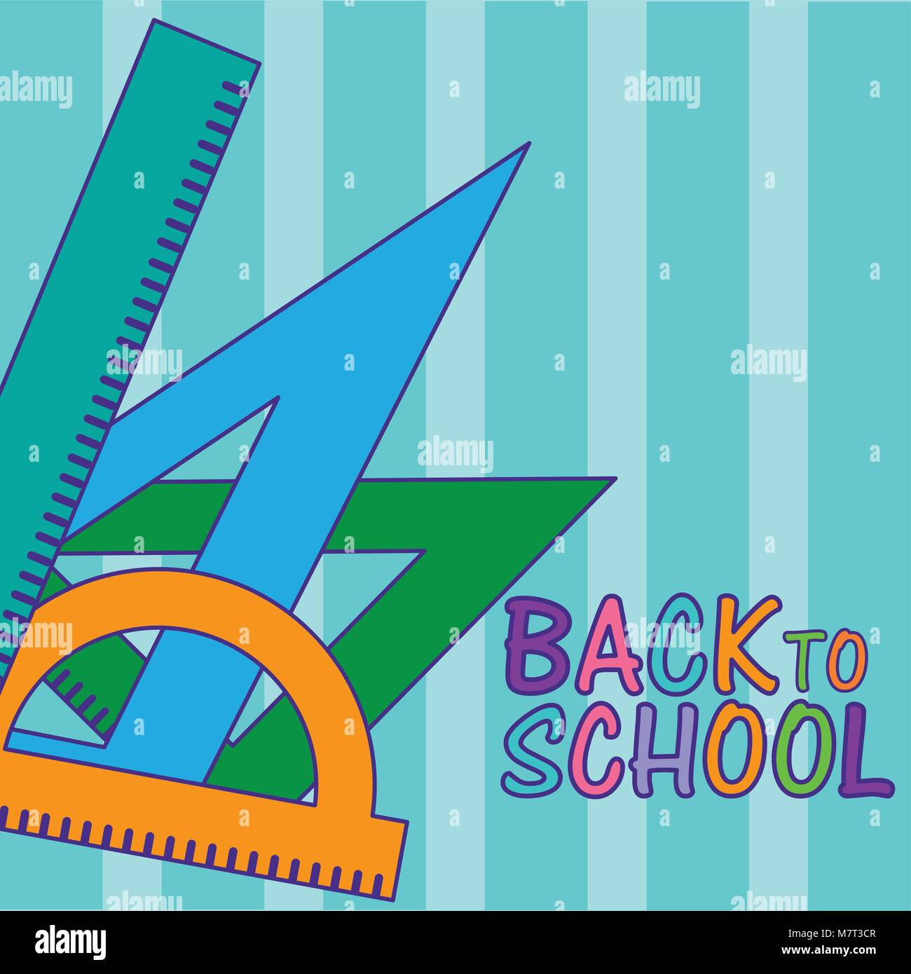 Back to school and supplies - Stock Vector
