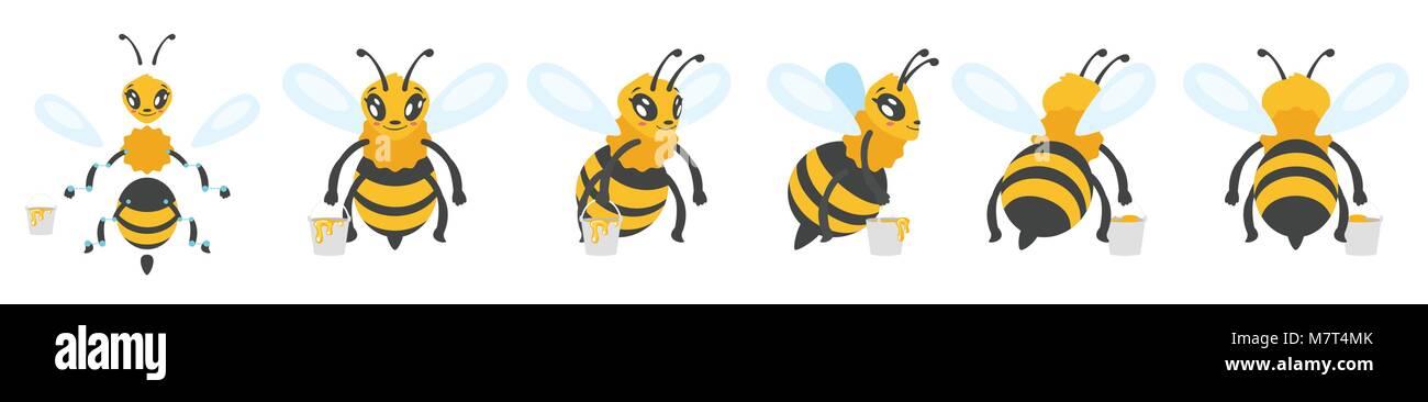 Honey Bee Cartoon Character Stock Photos & Honey Bee Cartoon ...