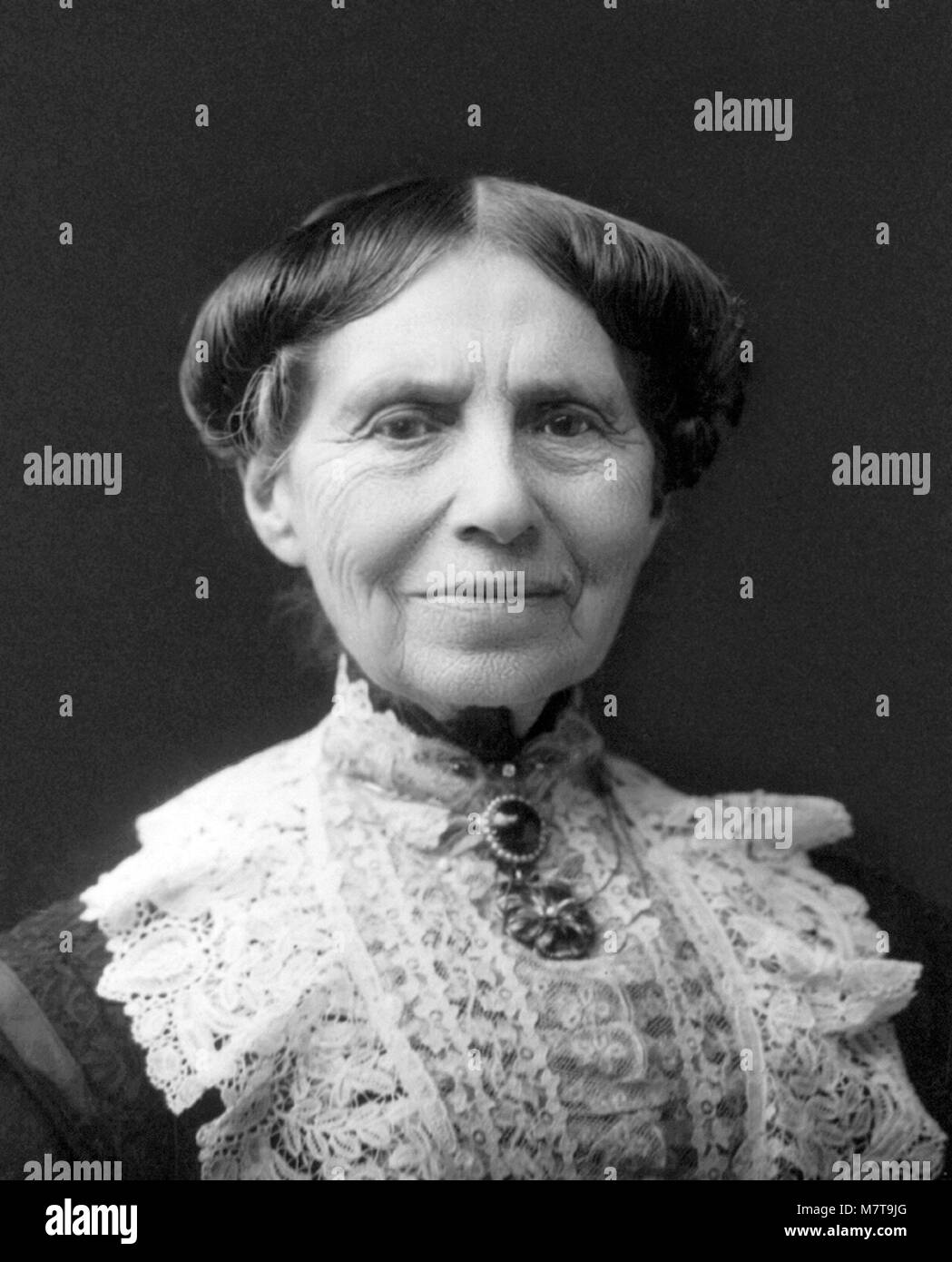 Clara Barton. Portrait of the nurse and founder of the American Red Cross, Clarissa 'Clara' Harlowe Barton - Stock Image