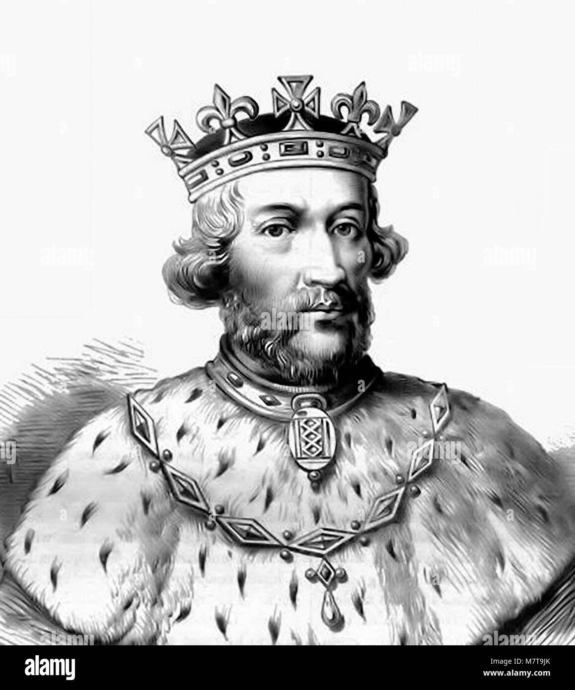 Edward II. Portrait of King Edward II of England (1284-1327). - Stock Image