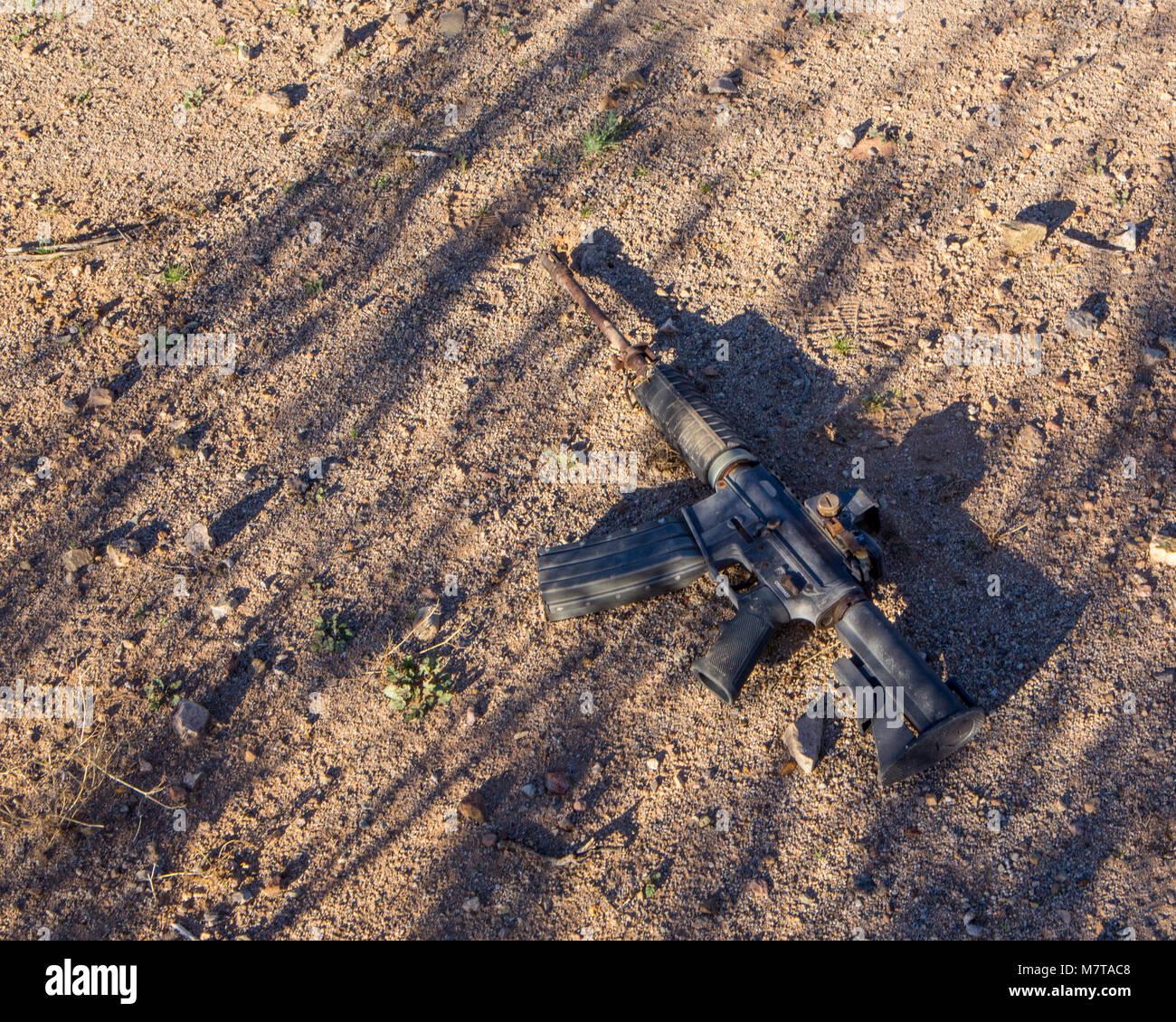 Smuggler's gun Stock Photo