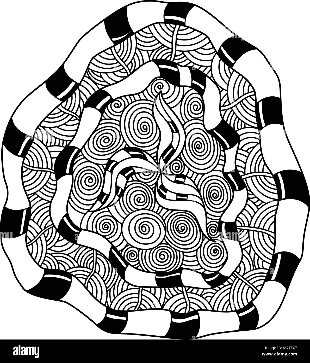 Decorative Hand Drawn Mandala Elements And Flowers Coloring Page