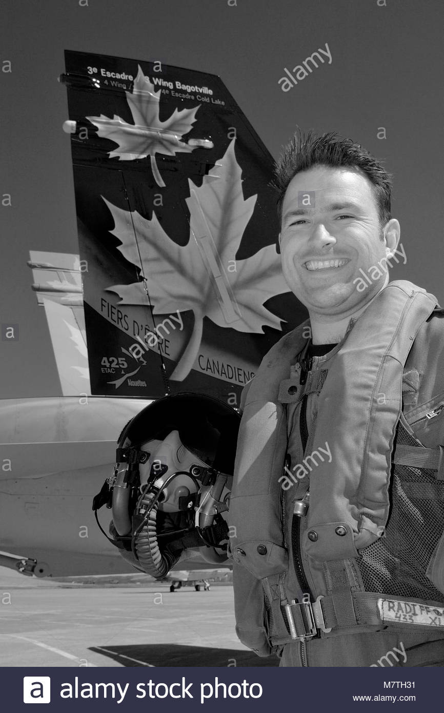 """Captain William """"Fat Daddy"""" Radiff of 425 Tactical Fighter Squadron,. 21 avril 2006 BFC Bagotville, PQ  Le Capitaine - Stock Image"""
