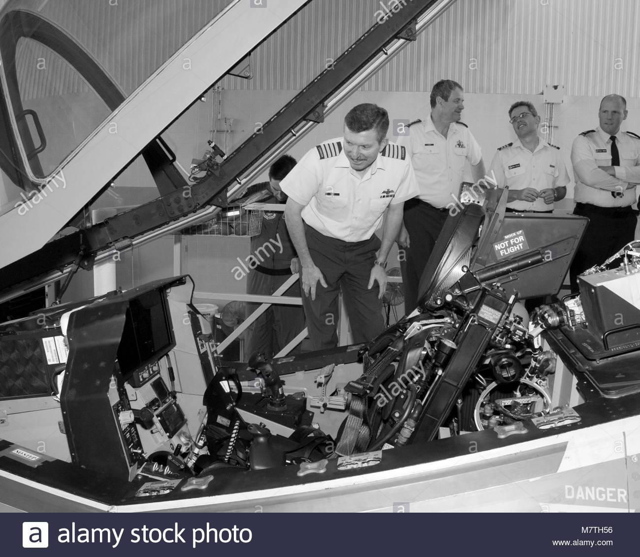 CAS Visit. 26-37094  6 September 2006 Lockheed Martin Plant, Fort Worth, Texas  Colonel Dave C. Burt, Director Air - Stock Image