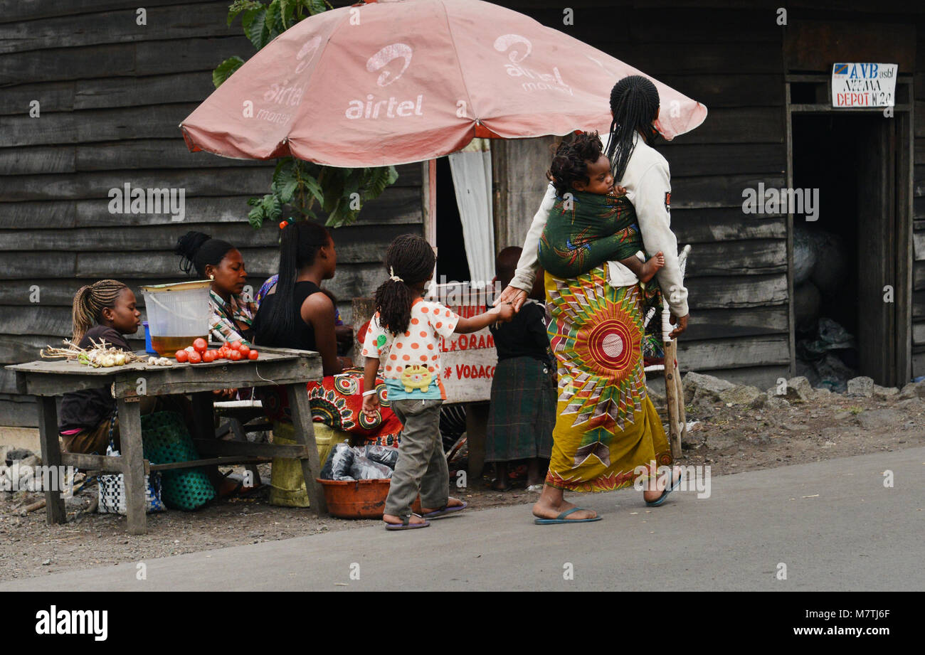 Life along the streets of Goma, D.R.C Stock Photo