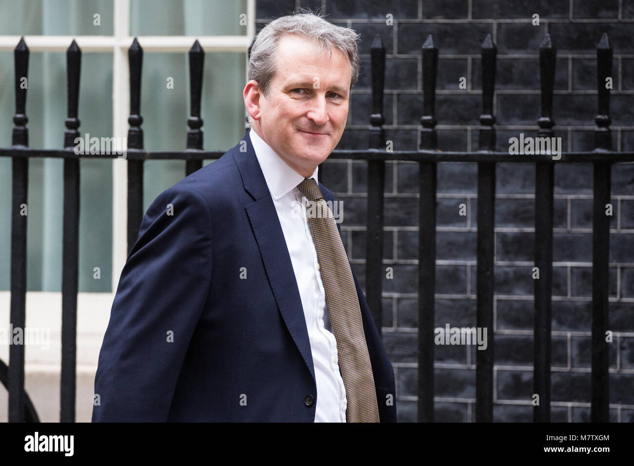 London, UK. 13th March, 2018. Damian Hinds MP, Secretary of State for Education, arrives at 10 Downing Street for - Stock Image