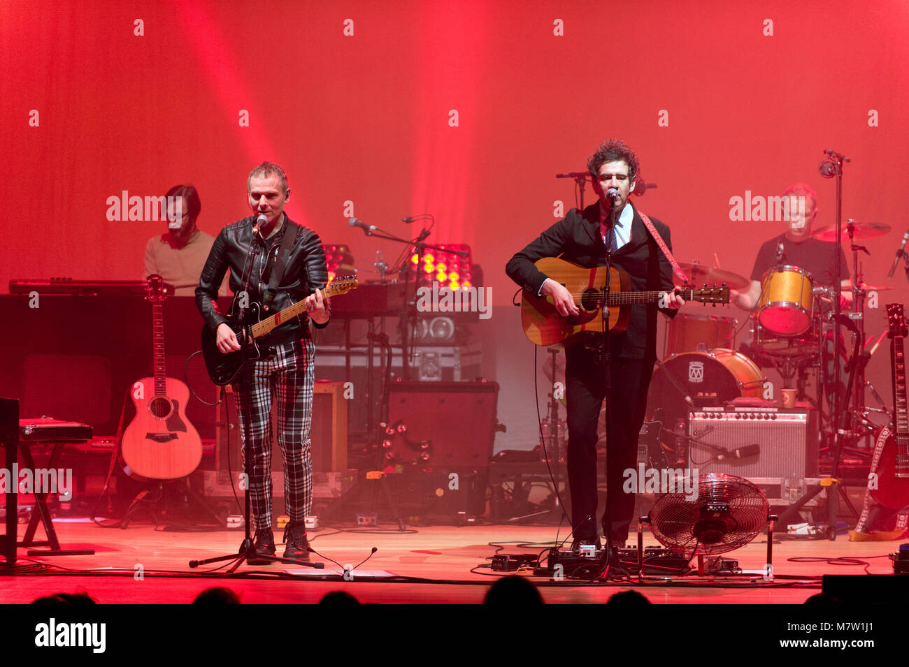 Manchester, UK. 12th March, 2018. Indie rock band Belle and Sebastian in concert at The Bridgewater Hall. Manchester, - Stock Image