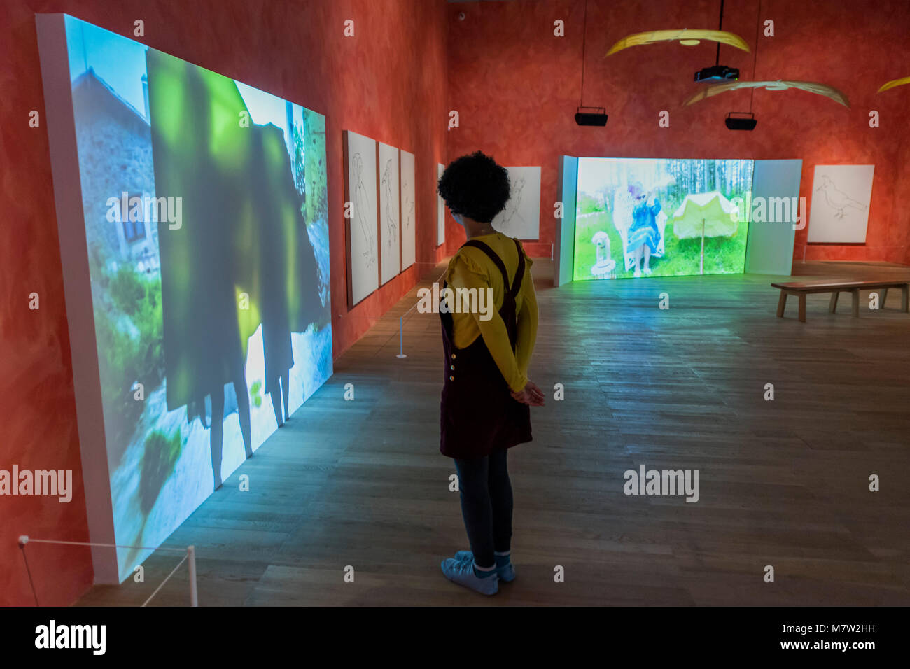 London, UK. 13th March, 2018. Stream or River, Flight or Pattern - Joan Jonas, Tate Modern opens largest survey Stock Photo