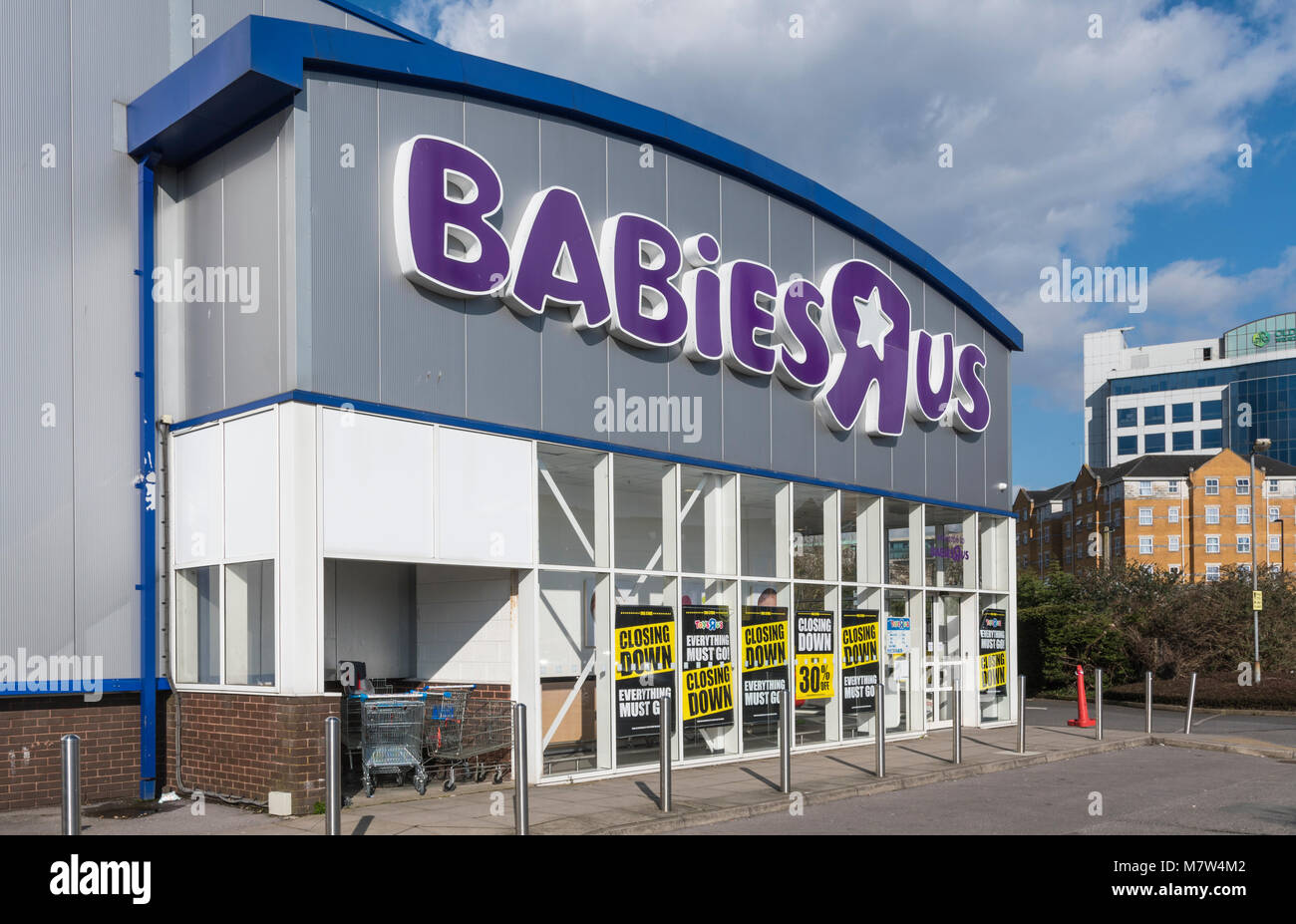 Southampton, Hampsire, England, UK. Tuesday 13th March 2018. Babis R Us, part of the Toys R Us store in Southampton, - Stock Image