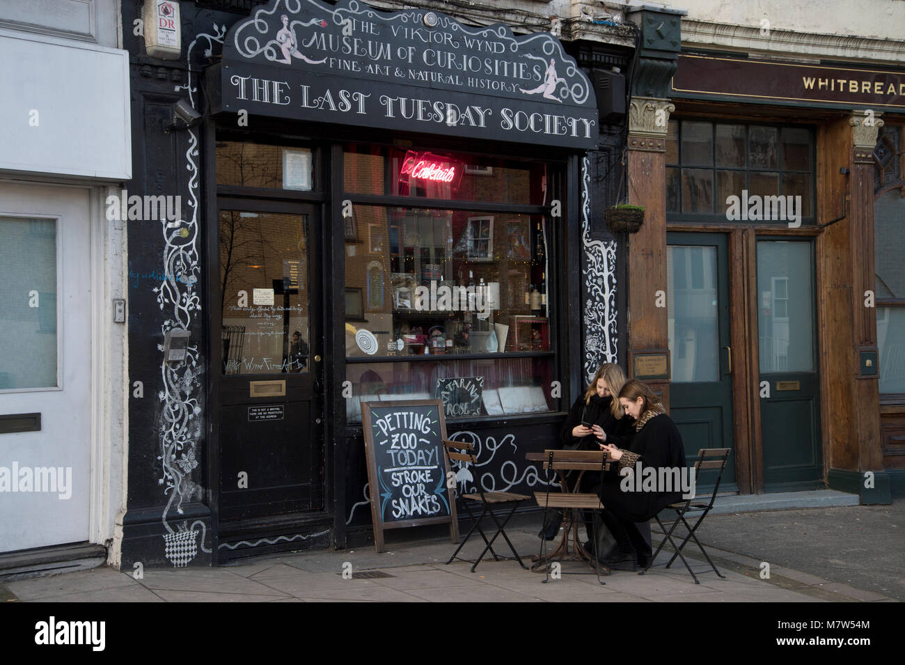 Last Tuesday Society, Museum of Curiosities and Petting Zoo, Mare Street , Hackney - Stock Image