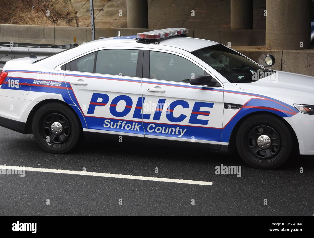 Suffolk County Police car Stock Photo