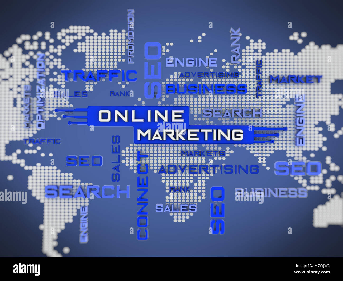 Online marketing crossword with world map background 3d stock photo online marketing crossword with world map background 3d illustration gumiabroncs Gallery