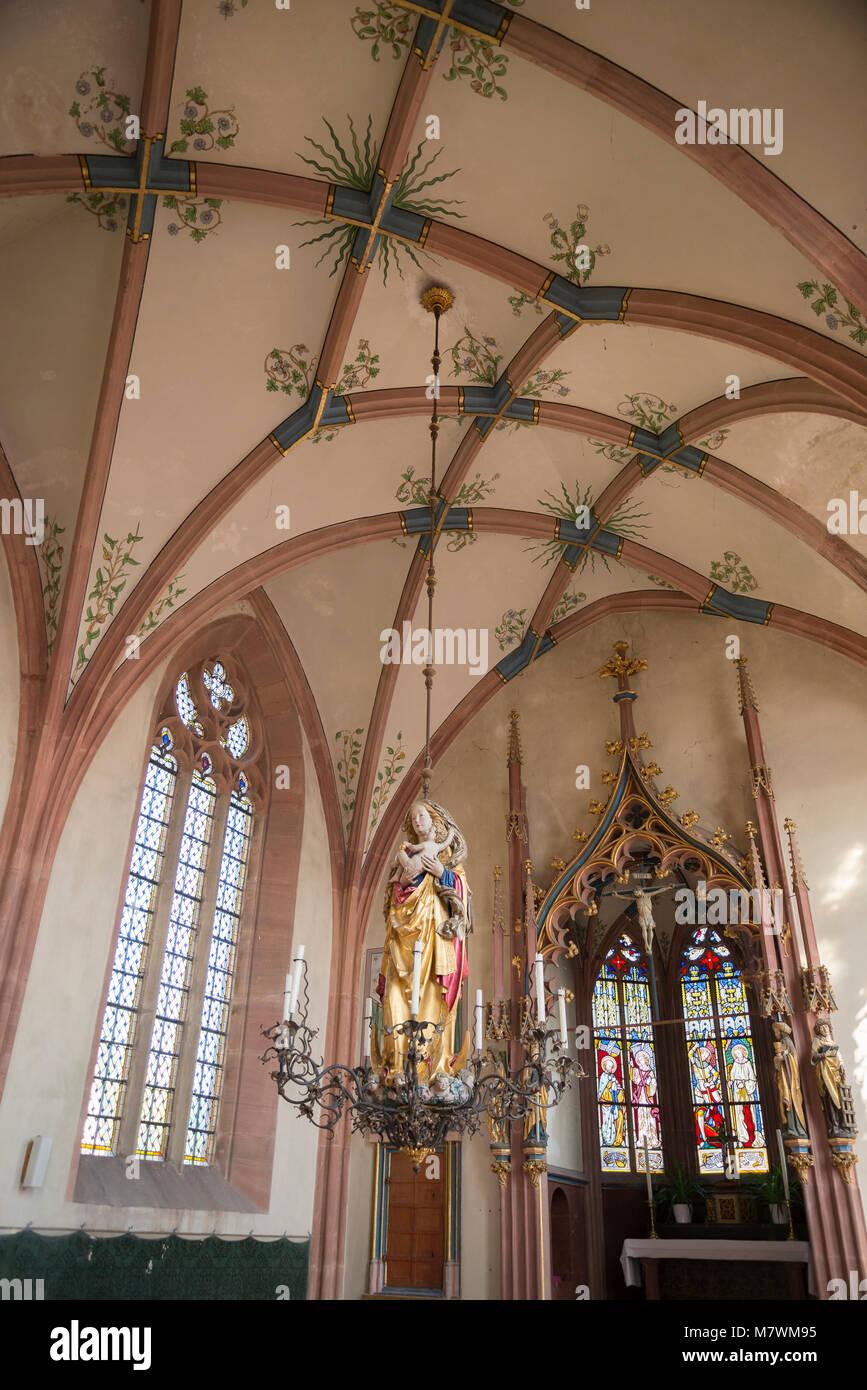 Michaelskapelle, Kiedrich, Rheingau, Hessen, Deutschland - Stock Image