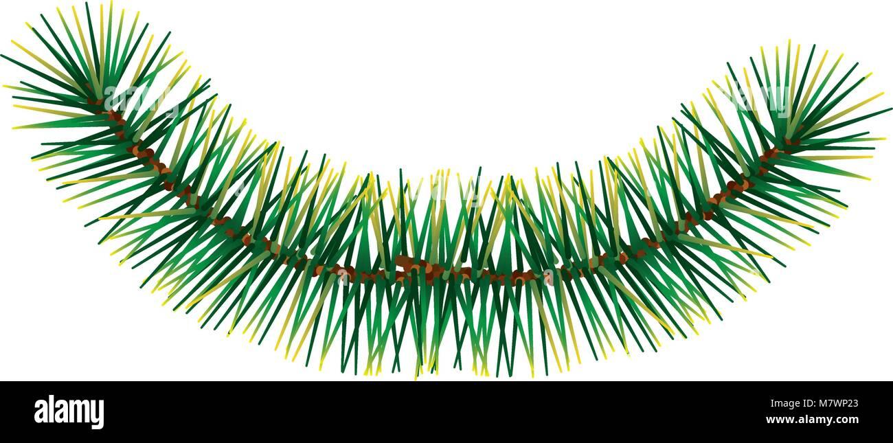 branche pine tree icon - Stock Vector