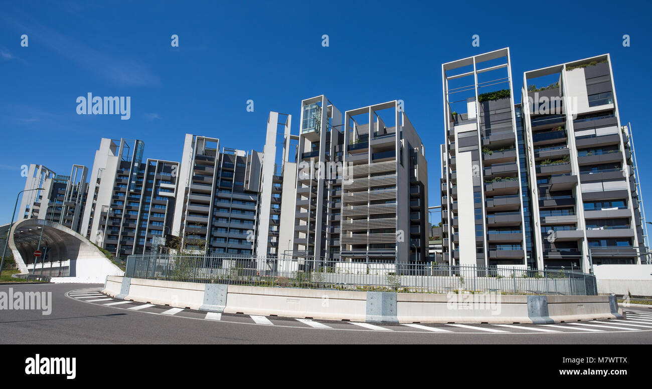 MILAN, ITALY, JUNE 7. 2017 - Modern buildings and offices in the new Portello area, near Milan Fiera, Milan city, - Stock Image