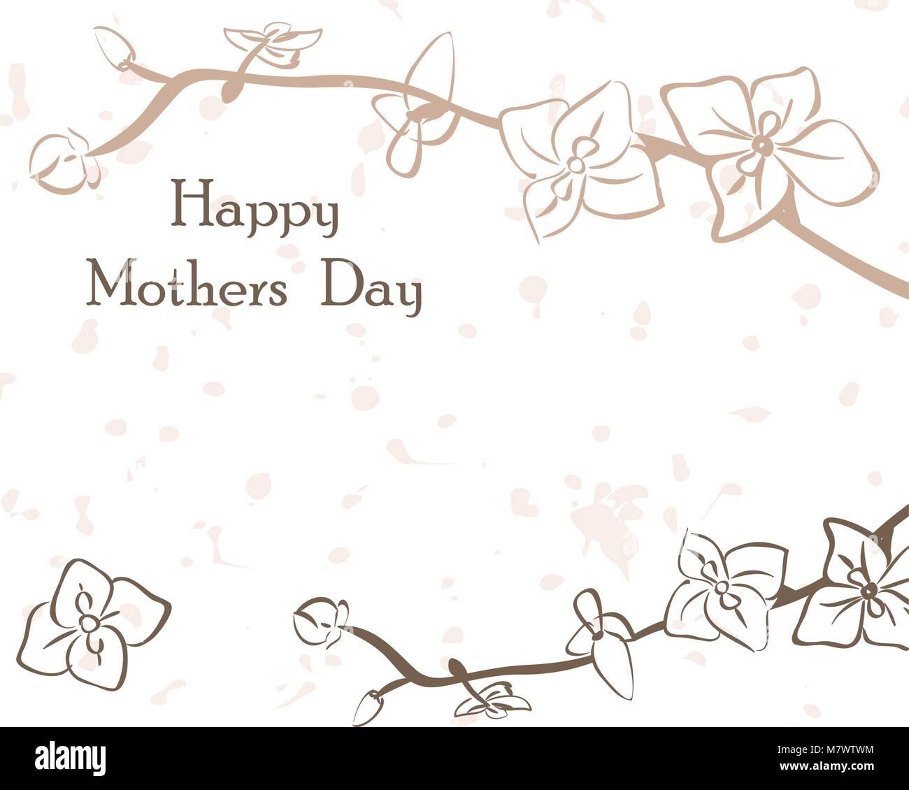 Card International Mothers Day In Gentle Tones Postcard Vector