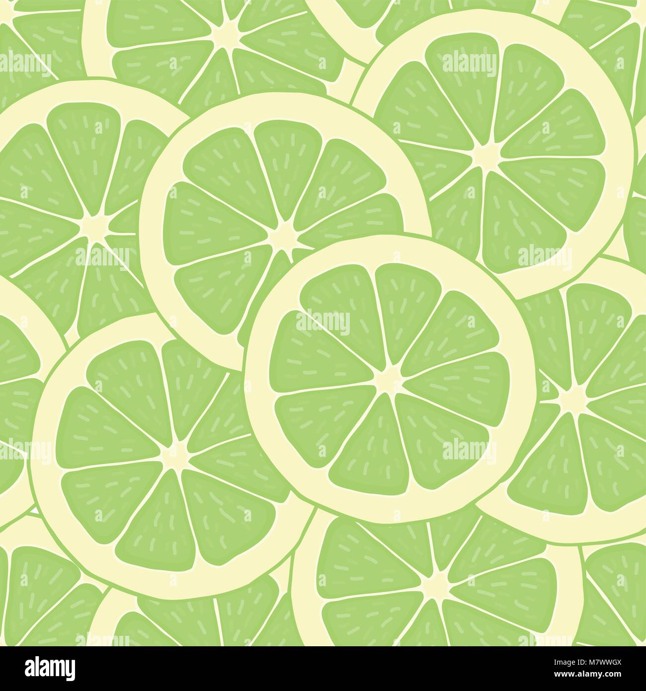 Wallpaper Lime Vector Illustration Seamless Pattern Background